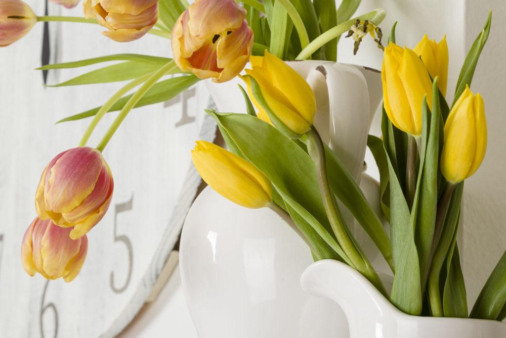 Spring Flowers, Handmade Clock