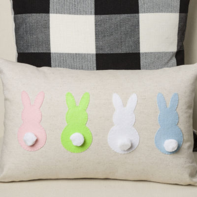 Bunny Pillow Applique, FREE download pattern, easy insturctions