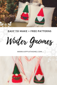 Easy to Make Gnome Pillows, free pattern and insturctions