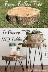 Tree slice hairpin leg tables, DIY