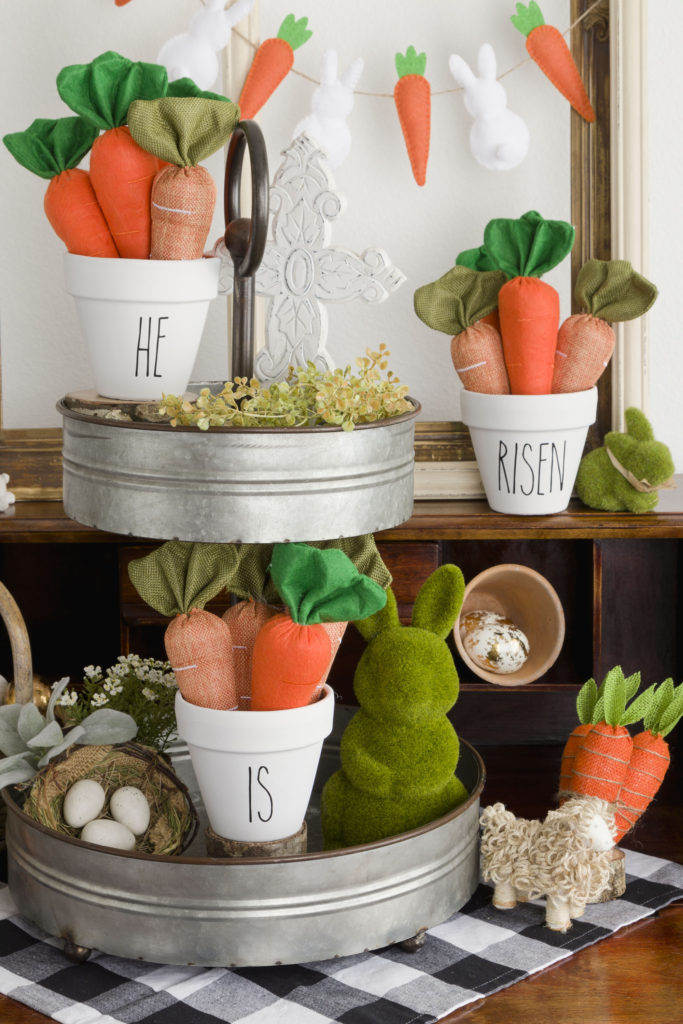 Tiered Easter Vignette