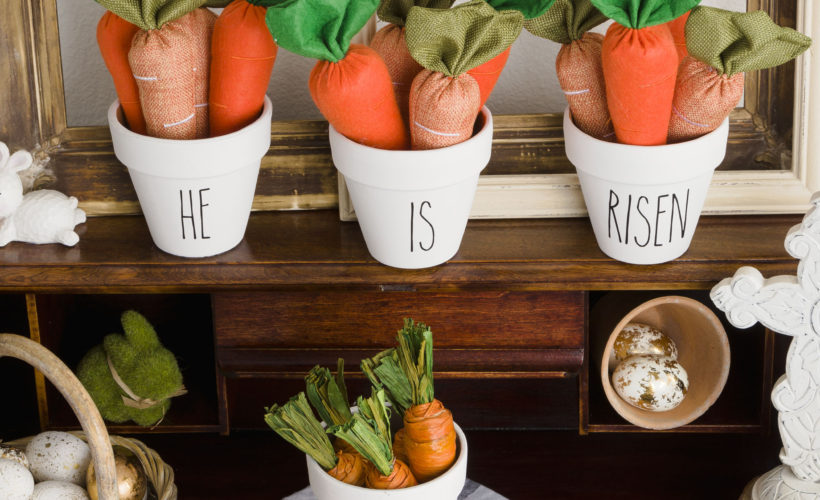 He is Risen Flower Pots, Easy decorating for Easter