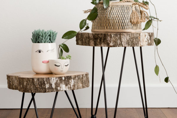 Tree Slice Hairpin Table DIY