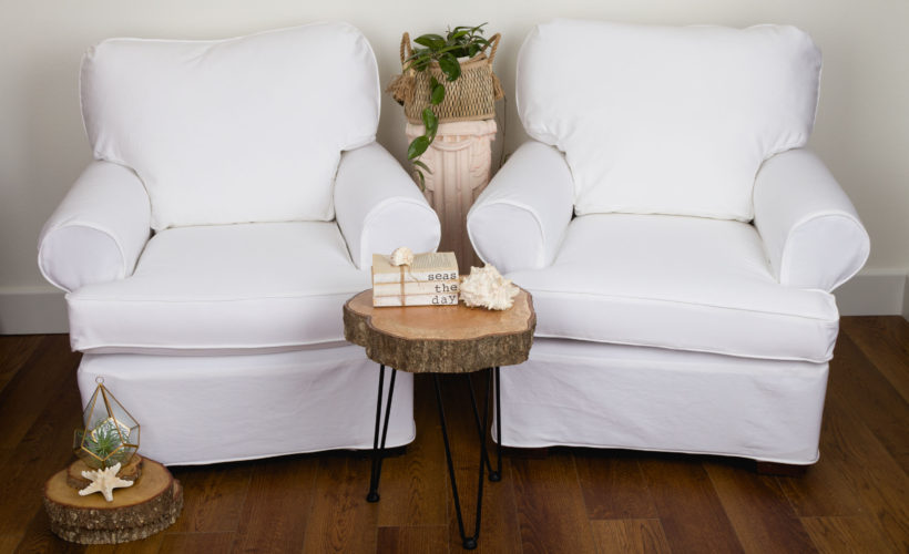 White Demin Slipcovers, refreshing, clean and neutral