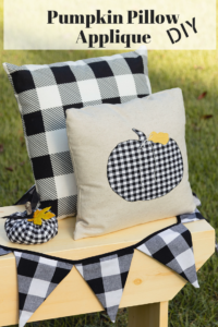 Pumpkin Pillow Applique DIY, easy fall pillow how-to