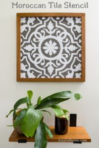 Moroccan Tile Stencil, Easy Bathroom Updates, Free SVG File, Cricut Maker, Bathroom Refresh