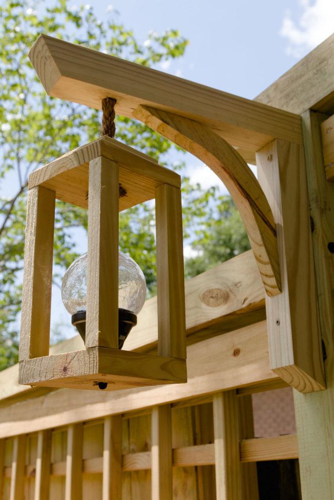 Solar lantern, garden trellis