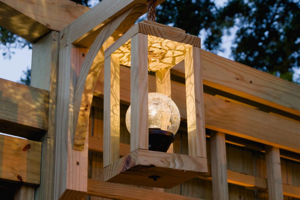 Handmade solar lanterns at night, easy to make, learn how...