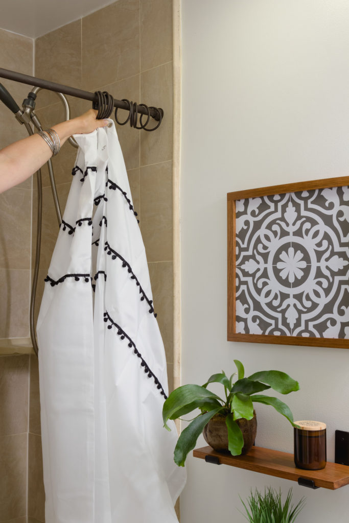 Shower curtain dilemma, how to install