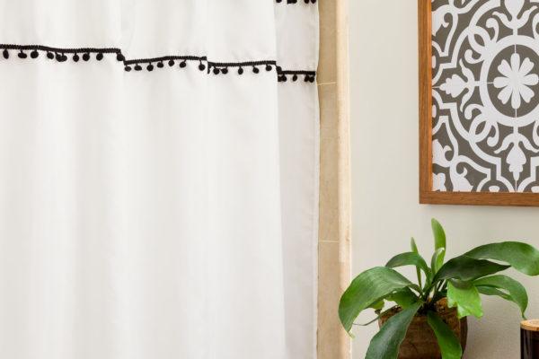 DIY Shower Curtain Ties