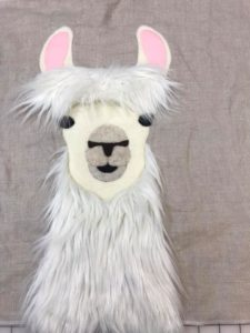 Placement for head fur, easy step by step llama pillow pattern