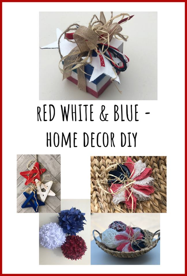 Red, white and blue home decor DIY