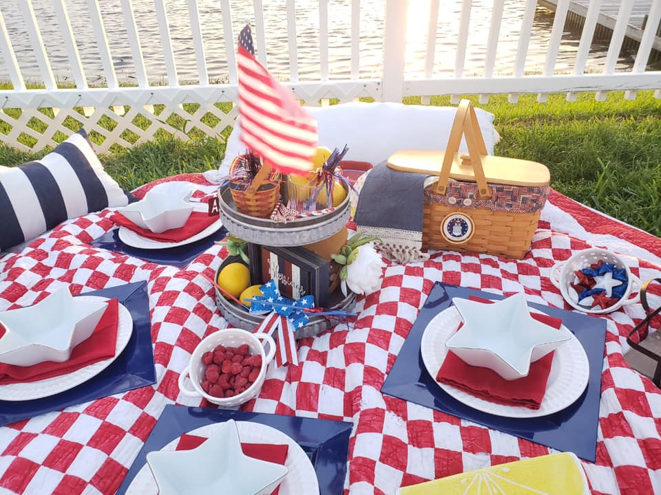 4th of July Picnic, pretty picnic