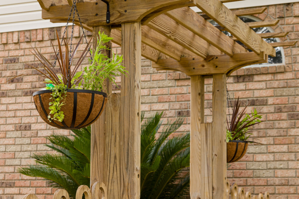Instantly adds beauty hanging baskets, easy trellis hanging baskets step by step