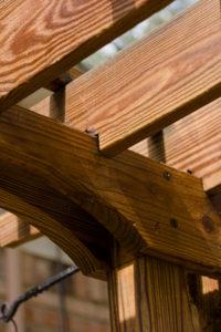 Handmade trellis, add hanging baskets for instant beauty