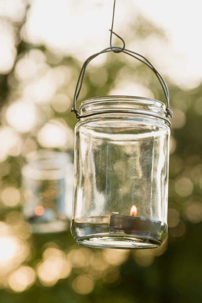 Up-cycled jar candles