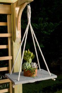 Boho chic hanging planter