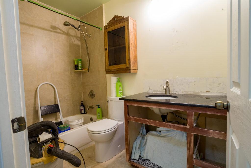 Bathroom vanity under going remodel
