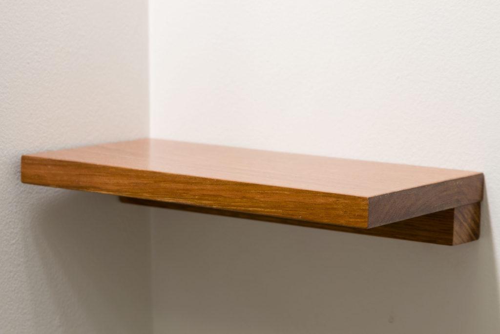 Handmade exotic wood shelf