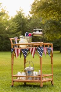 4th of July Bar Cart