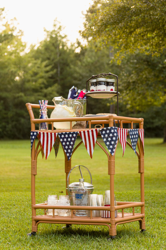 4th of July Bar Cart