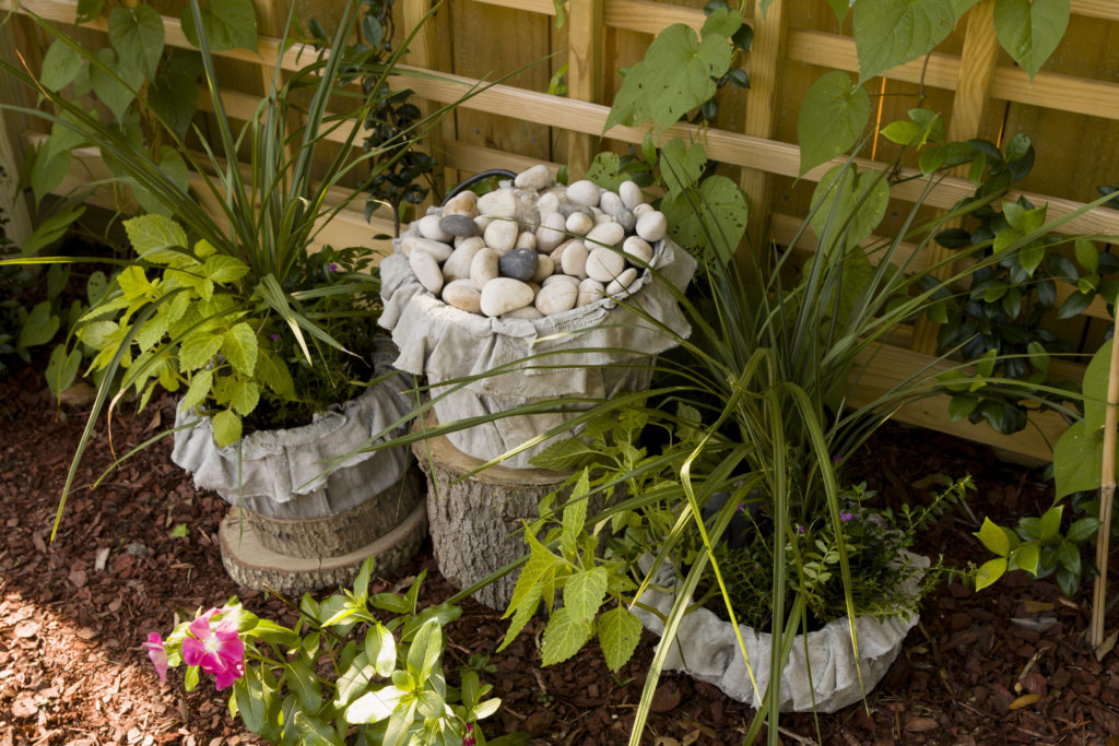 Kippi's planters and water feature