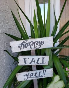 Happy Fall Ya'll Sign