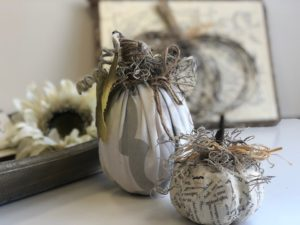 Cute Dollar Tree DIY pumpkins