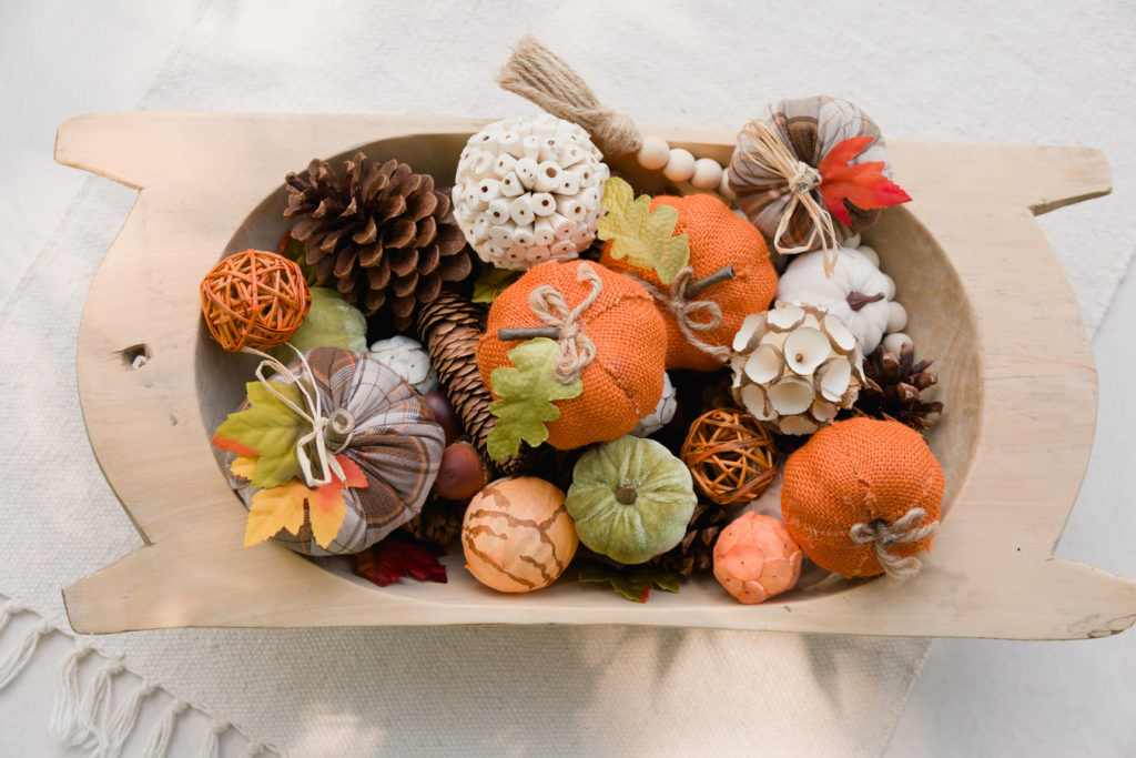 Easy fall centerpiece in minutes
