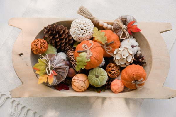 Fall Dough Bowl Arrangements
