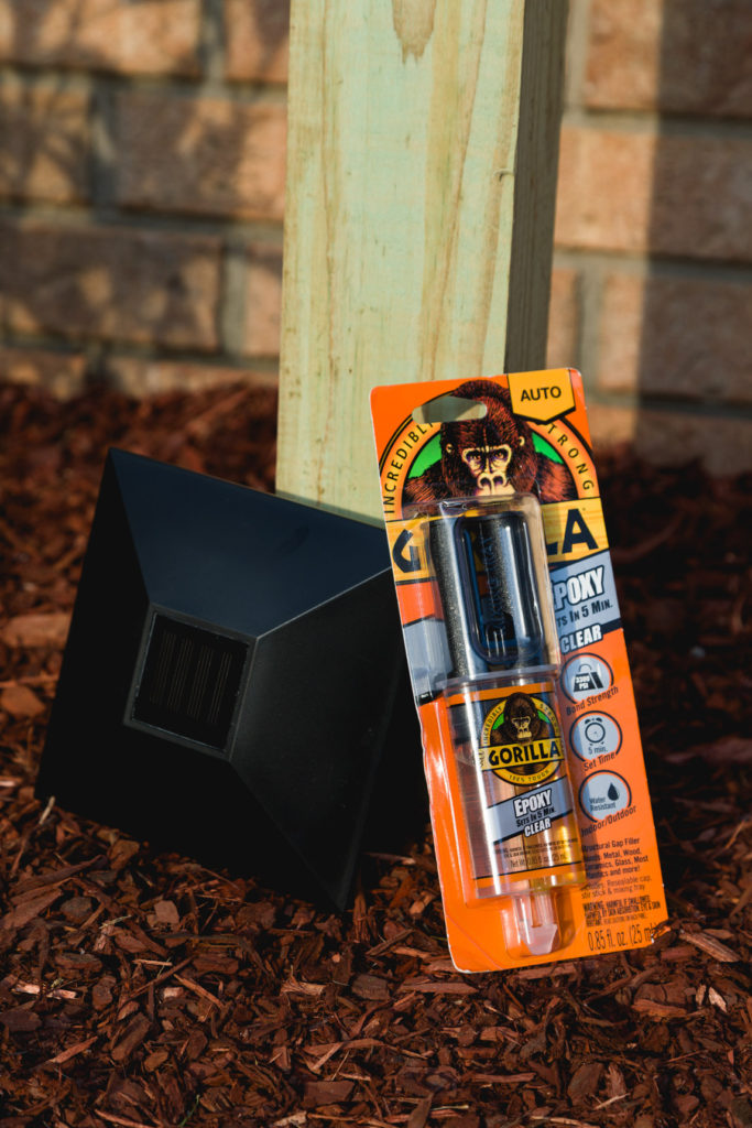 Solar light post cap and Gorilla Epoxy