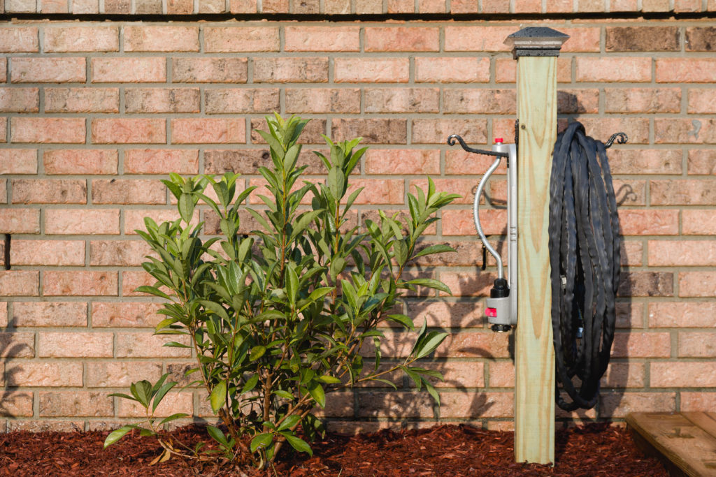 Landscaping and hose storage