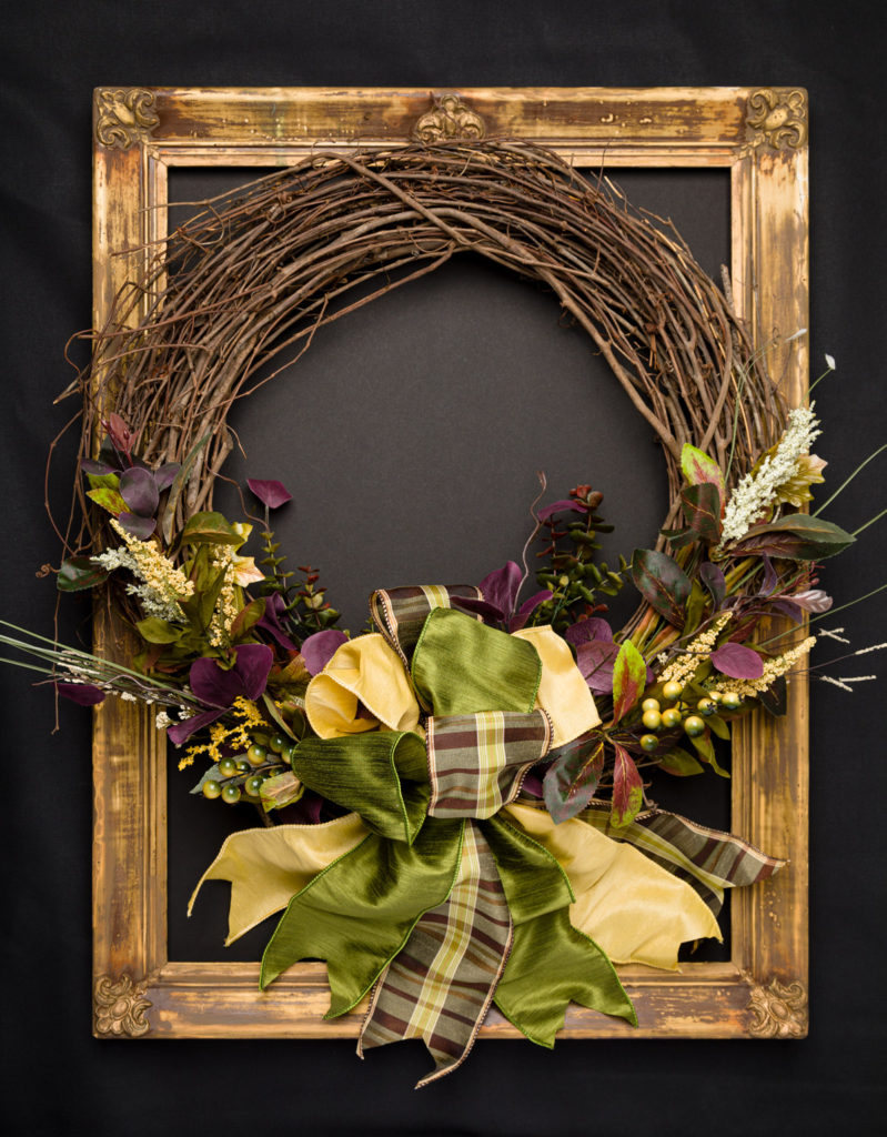 Elegant fall wreath