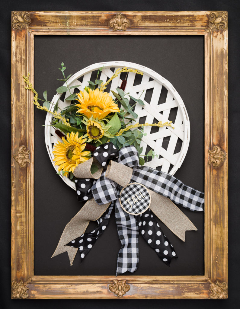 Sunflower wreath ready for your door