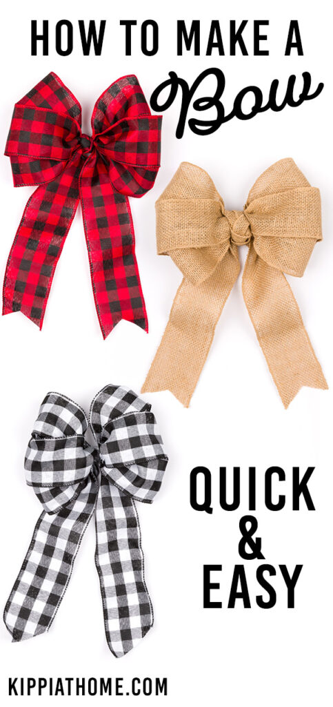 Three bows on a white background