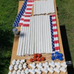 Supplies for ladder golf lawn DIY