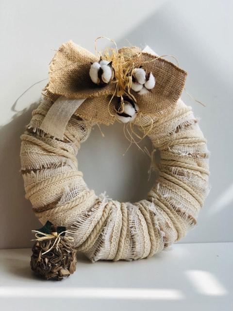 Layered Burlap Fall Wreath