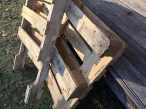 Pallets I used for wood