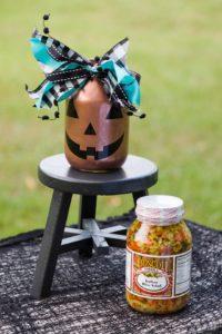Upcycled jar Jack O' Lantern