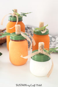 Mason jar Pumpkin decorating ideas