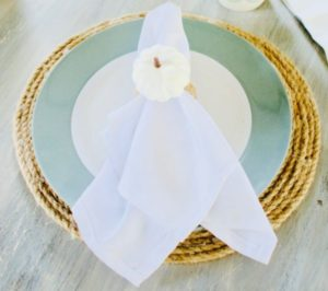 Pumpkin napkin ring DIY