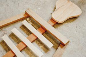 Scrap wood skeleton