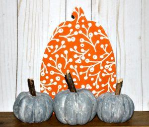Faux concrete dollar store pumpkins