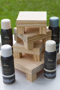 Spray chalk paint and risers