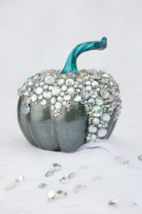 Bling teal pumpkin