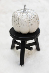 Pretty white holographic pumpkin