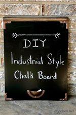 Chalkboard industrial style