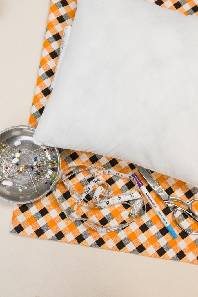 DIY pillow covers supplies