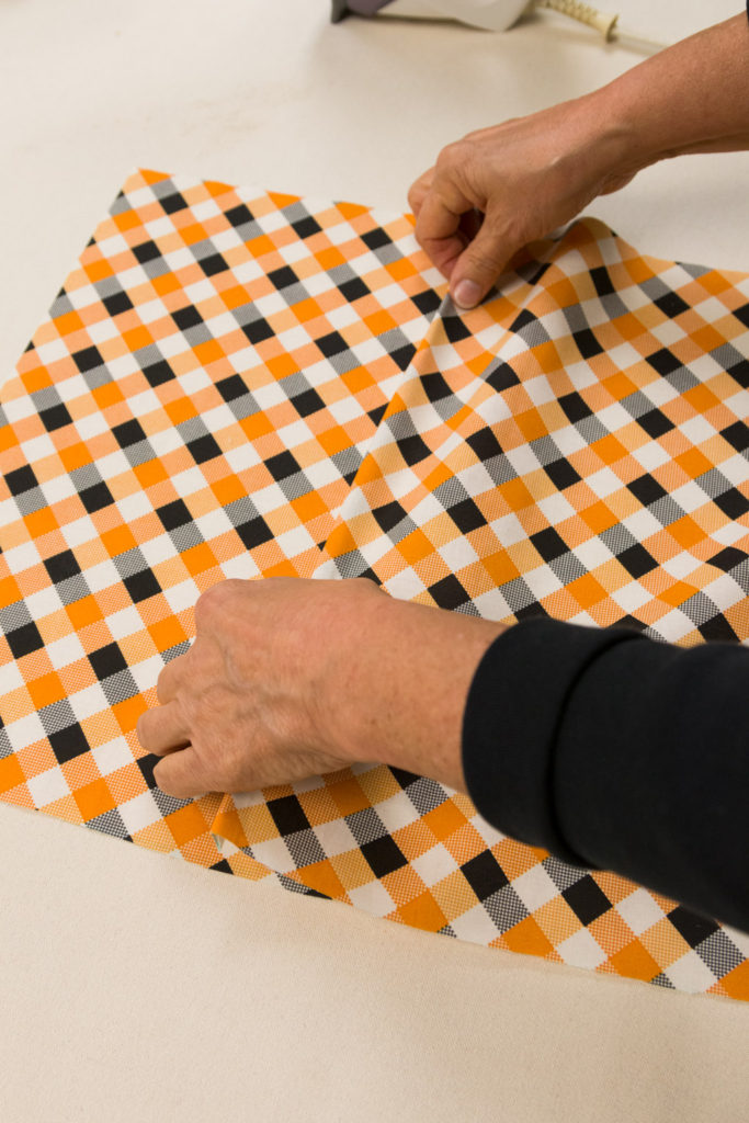 Checking the back envelope pillows pieces. Easy pillow covering making.