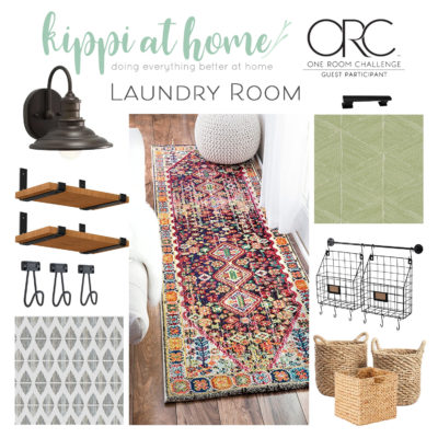 Laundry room makeover mood board